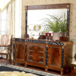 E10 buffet & mirror,   buffet  78.7x21.3x36.2, mirror,68.9x2.8x43.3