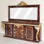 "BUFFET WITH MIRROR BUFFET 92""L x 19""D x 36""HMIRROR 83""L x 47 ½ ""H"