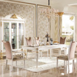 E62 dining room 2 W  Dining  Table 4 Legs,  78.74 x 43.30 x 30.70/ 3 Door Showcase ,68.11 x 25 x 91.85