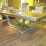 E16-Long Dining Table 94.4Wx47.2Dx30.7H(wood top) E16-Long Dining Table 70.8Wx41.3Dx30.7H (wood top)