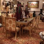 E16-Long Dining Table and chairs